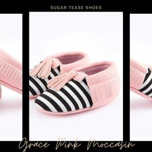 Grace Pink Baby Moccasin Shoes - Sugar Tease